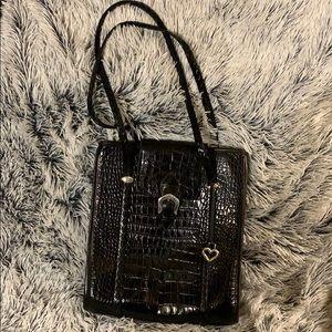 Large Black Brighton Bag, Dust Bag